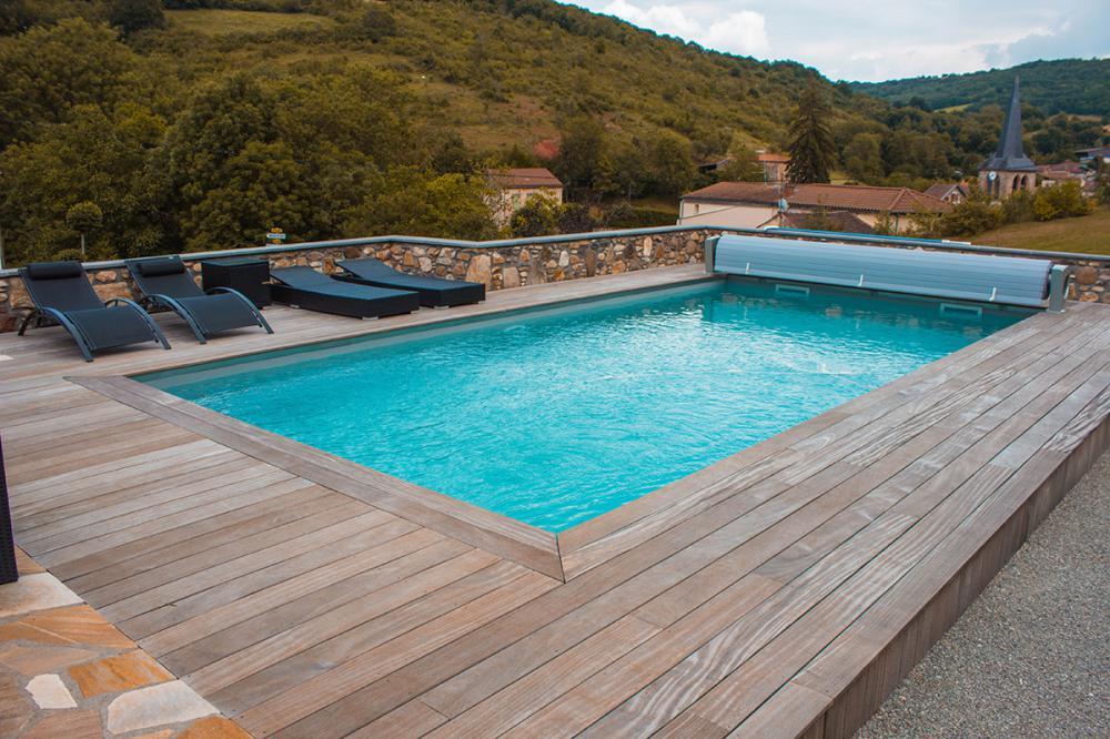 Ultra Aménagement terrasse piscine extérieure, Aménagement abord, plage KB-04
